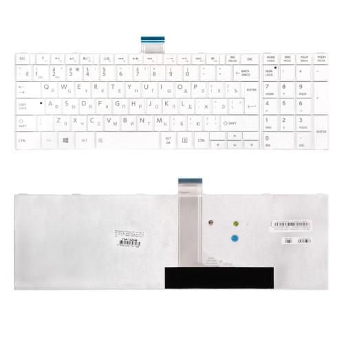 Клавиатура для ноутбука Toshiba C50, L50, C850, P870 Series. Г-образный Enter. Белая, без рамки. PN: MP-11B96SU-528, NSK-TT0SU 0R.