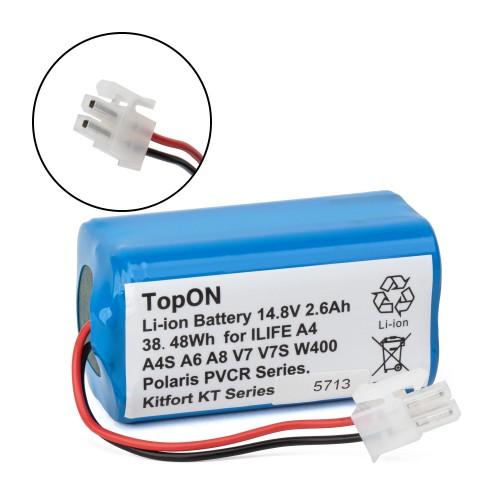 Аккумулятор для робота-пылесоса Chuwi iLife A4, A4S, A6, A8, V7, V7s, W400. 14.8V 2.6Ah (Li-Ion) PN: CS-ECR131VX