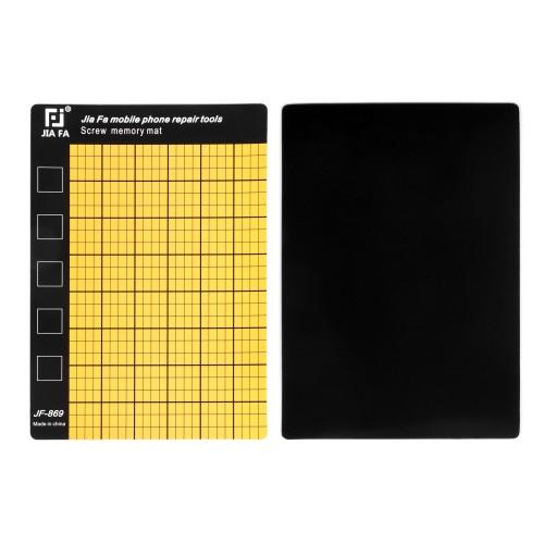 Коврик магнитный 150x100 мм для ремонтных работ с разметкой, цвет жёлтый