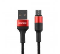 Кабель Type-C - USB 2A IQFuture IQ-UC2A для зарядки и передачи данных 1.2 метра