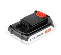 Аккумулятор для Black & Decker 18V 2.0Ah (Li-Ion) PN: BL2018-XJ.