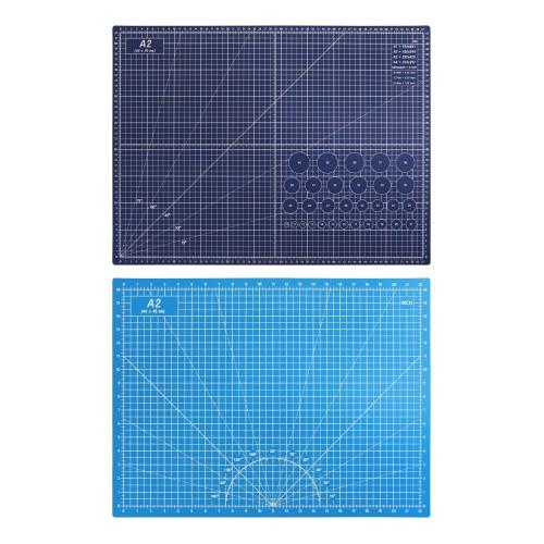 Коврик для макетирования и резки 45x60см A2 двусторонний с разметкой. ПВХ с самовосстанавливающимся покрытием. Цвет синий