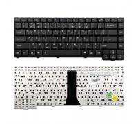 Клавиатура для ноутбука Asus F3, PRO31, X52 Series. (24pin). Плоский Enter. Черная без рамки. PN: 04GNI11KRU40.