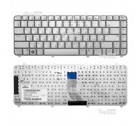 Клавиатура для ноутбука HP Pavilion DV5-1000, DV5-1100 Series. Плоский Enter. Серебристая, без рамки. PN: AEQT6700120, MP-05583SU69201.