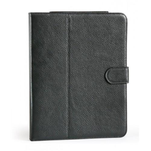 Чехол-подставка кожанный со встроенным аккумулятором на 5400mAh для планшета Apple iPad 2, iPad 3, iPad 4. Черный.