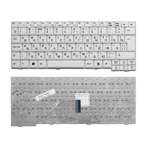 Клавиатура для ноутбука Acer Aspire One 531, A110, A150, D150, ZG5 Series. Г-образный Enter. Белая, без рамки. PN: 9J.N9482.00R.