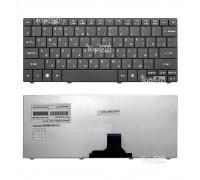 Клавиатура для ноутбука Acer Aspire 1410, 1425, 1810, 1830 Aspire One 721, 722, 751 Series. Плоский Enter. Черная, без рамки. PN: NSK-AQ10R.