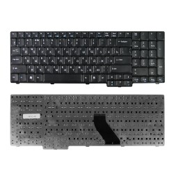 Клавиатура для ноутбука Acer Aspire 9300, 9400, 7000, 5735, 6930G Series. Плоский Enter. Черная, без рамки. PN: NSK-AFC2R.