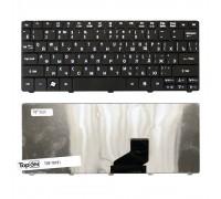 Клавиатура для ноутбука Acer Aspire One 521, 522, 532, D257, D270 Series. Плоский Enter. Черная, без рамки. PN: ZE6, ZH9, 90.4GS07.C0R, 9Z.N3K82.A0R.