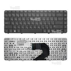 Клавиатура для ноутбука HP 250 G1, 430, 630, 635, 640, 645, 650, 655 Series. Плоский Enter. Черная, без рамки. PN: 653390-251.