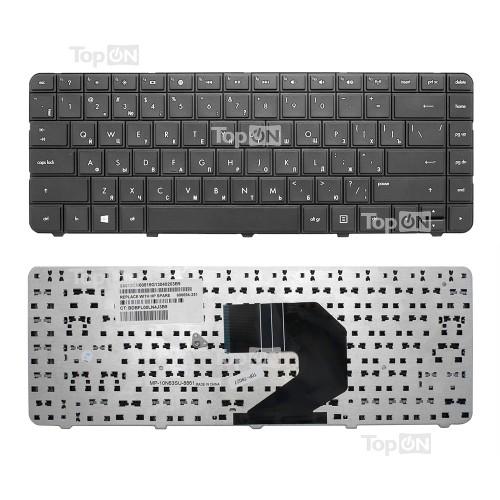 Клавиатура для ноутбука HP 430, 630, 635, Pavilion G4-1000, G6-1000, Compaq Presario CQ43 Series. Плоский Enter. Черная, без рамки. PN: 653390-251.