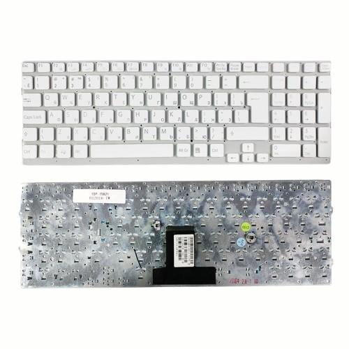 Клавиатура для ноутбука Sony Vaio VPC-EB Series. Г-образный Enter. Белая, без рамки. PN: 148792871, V111678A.