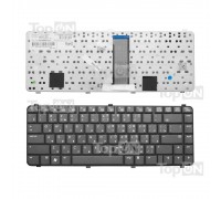 Клавиатура для ноутбука HP Compaq 511, 515, 516, 610, 615, 6530s, 6531s, 6535s Series. Плоский Enter. Черная, без рамки. PN: 537583-001, NSK-HFM01.