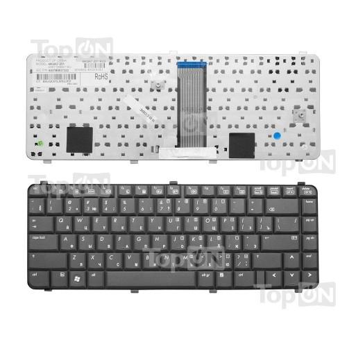 Клавиатура для ноутбука HP Compaq CQ511, CQ515, CQ610, CQ615 Series. Плоский Enter. Черная, без рамки. PN: NSK-H5R0R.