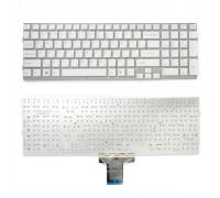 Клавиатура для ноутбука Sony Vaio VPC-EB Series. Плоский Enter. Белая, без рамки. PN: 148792871, V111678A.