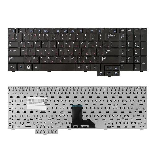 Клавиатура для ноутбука Samsung R519, R523, R525, R528, R530, R538, R540, P580 Series. Плоский Enter. Черная, без рамки. PN: 9Z.N5LSN.00R.