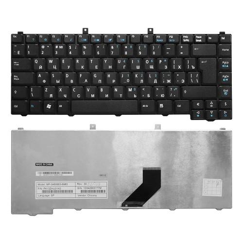 Клавиатура для ноутбука Acer Aspire 3100, 3650, 3690, 5100, 5110, 5680, 9110 Series. Г-образный Enter. Черная, без рамки. PN: MP-04653U4-6983.