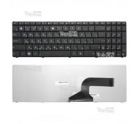 Клавиатура для ноутбука Asus K52, K53, N50 Series. Плоский Enter. Черная, без рамки. PN: NSK-UM0SU.