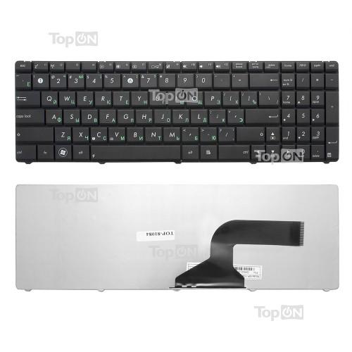 Клавиатура для ноутбука Asus N50, N51, N52, N53, N60, N61, N70, N71, N73, K52, K53, F50 Series. Плоский Enter. Черная, без рамки. PN: NSK-UM0SU.
