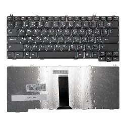 Клавиатура для ноутбука Lenovo IdeaPad C100, C200, C430, C460Series. Плоский Enter. Черная, без рамки. PN: 25-007500.