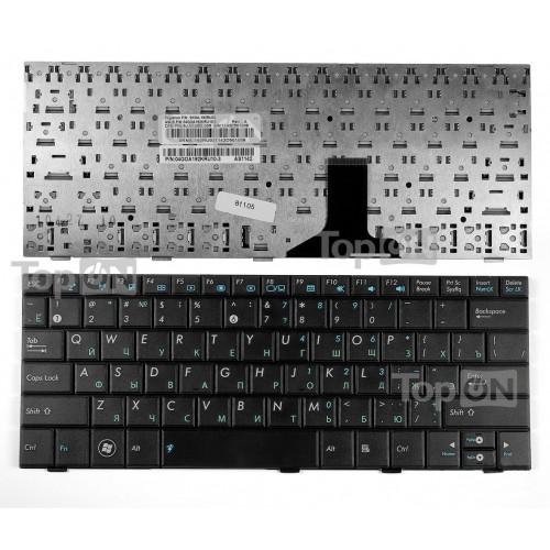 Клавиатура для ноутбука Asus Eee PC 1001P, 1001PX, 1005P Series. Плоский Enter. Черная без рамки. PN: MP-09A33SU-5282.