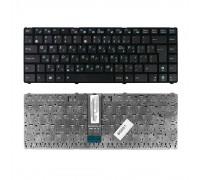 Клавиатура для ноутбука Asus U20, UL20, Eee PC 1201, 1215, 1215B Series . Г-образный Enter. Черная, с черной рамкой. PN: 9J.N2K82.90R.