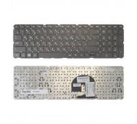 Клавиатура для ноутбука HP Pavilion DV7-4000, DV7-5000 Series. Плоский Enter. Черная c черной рамкой. PN: NSK-HS0UQ 01.