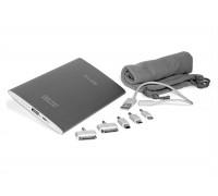 Сверхтонкий внешний аккумулятор 6500mAh (24Wh) с USB-портом, для зарядки смартфонов, планшетов и цифровой техники. Серебристый.