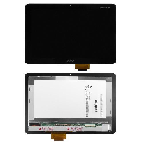 Дисплей, матрица и тачскрин для Acer Iconia Tab A200 10.1 1280х800 WXGA, 40 pin LED. PN: B101EVT03 V.0, B101EVT03 V.1. Черный.