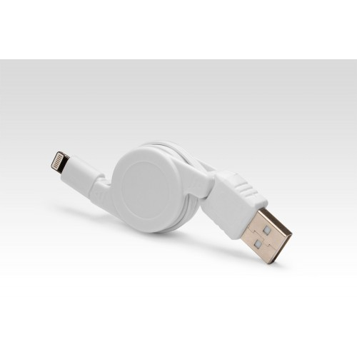 Выдвижной Lightning для подключения к USB Apple iPhone X, iPhone 8 Plus, iPhone 7 Plus, iPhone 6 Plus, iPad, iPod. Замена MD818ZM/A, MD819ZM/A. Белый.