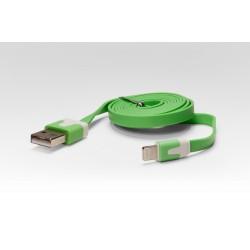 Кабель цветной Lightning для подключения к USB Apple iPhone X, iPhone 8 Plus, iPhone 7 Plus, iPhone 6 Plus, iPad, iPod. MD818ZM/A, MD819ZM/A. Зеленый.