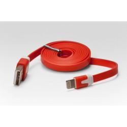 Кабель цветной Lightning для подключения к USB Apple iPhone X, iPhone 8 Plus, iPhone 7 Plus, iPhone 6 Plus, iPad, iPod. MD818ZM/A, MD819ZM/A. Красный.