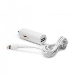 Автозарядка Lightning c USB-портом 2.1A Apple iPhone X, iPhone 8 Plus, iPhone 7 Plus, iPhone 6 Plus, iPad, iPod. Замена: HJ3J2ZM/A. Белая.