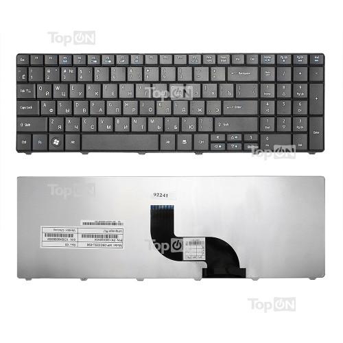 Клавиатура для ноутбука Acer Aspire E1-521, E1-531, E1-571 Series. Плоский Enter. Черная, без рамки. PN: NSK-AU00R.