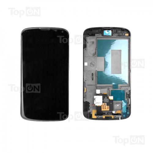 Матрица и тачскрин (сенс. стекло) в сборе для смартфона LG Nexus4, 4.7