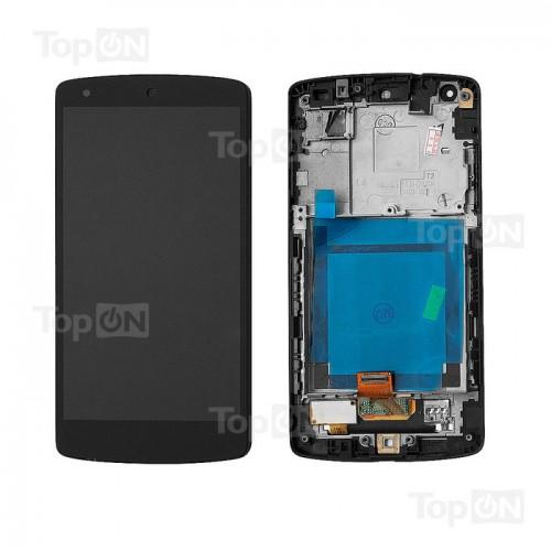 Матрица и тачскрин (сенс. стекло) в сборе для смартфона Nexus5 (с рам-й,  4.95