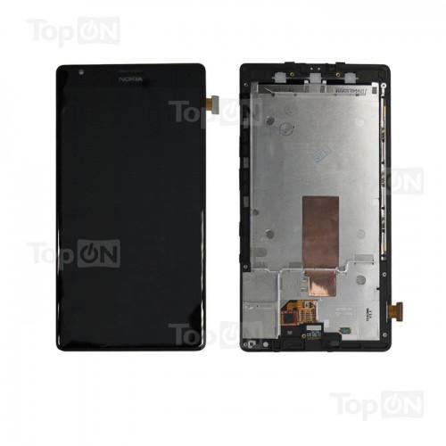 Матрица и тачскрин (сенс. стекло) в сборе для смартфона Nokia Lumia 1520, 6