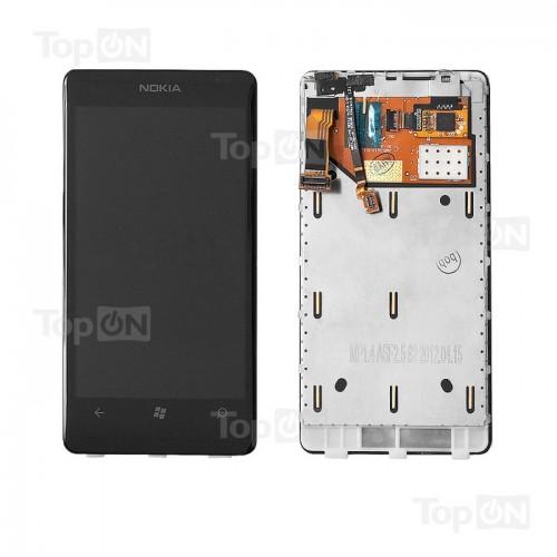 Матрица и тачскрин (сенс. стекло) в сборе для смартфона Nokia Lumia 800, 3.7