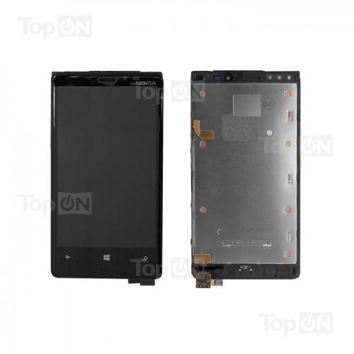 Матрица и тачскрин (сенс. стекло) в сборе для смартфона Nokia Lumia 920, 4.5