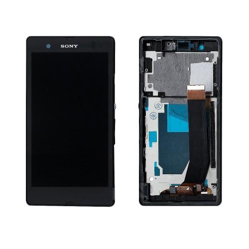 Дисплей, матрица и тачскрин для смартфона Sony Xperia Z C6602, 5 1080x1920, A+. Фиолетовый.
