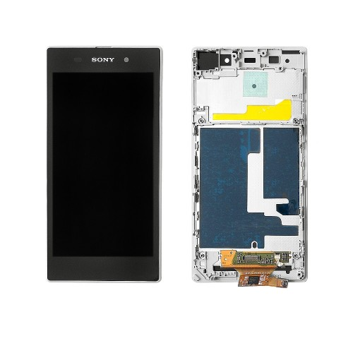 Дисплей, матрица и тачскрин для смартфона Sony Xperia Z1 L39H, 5 1080x1920, A+. Белый.