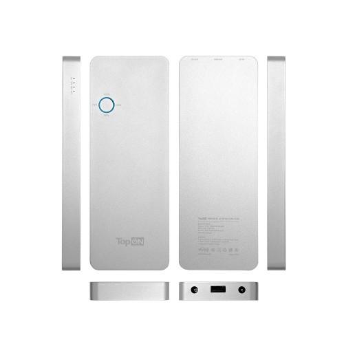 Универсальный внешний аккумулятор 12000mAh (44,4Wh) с USB-портом, для зарядки ноутбука Apple MacBook Air/Pro, планшета и смартфона. Серебристый.