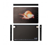 Ультракомпактный внешний аккумулятор 1020mAh (3.8Wh) в форме кредитной карты с Lightning и microUSB, для экстренной зарядки смартфона. Черный.